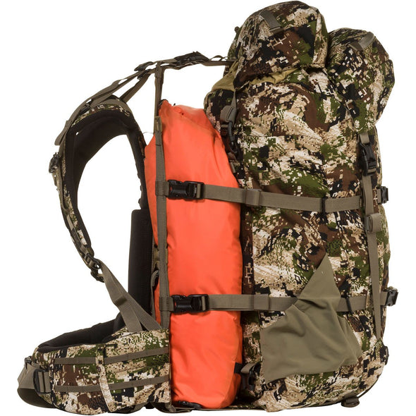 Mystery Ranch Metcalf Backpack (Optifade Subalpine DPM Camo) showing Overload Feature