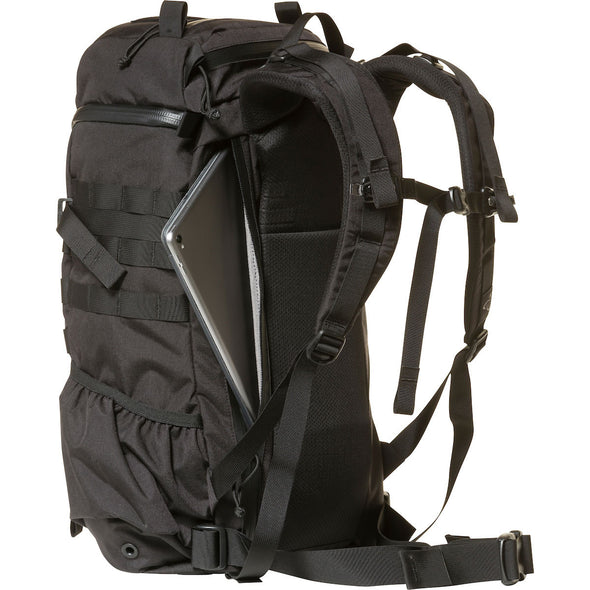 Mystery Ranch 2-Day Assault Day Pack Black – Rear View