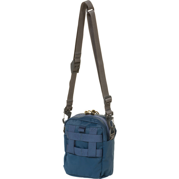 Mystery Ranch Big Bop Shoulder Travel Bag (Vintage Blue) Rear View
