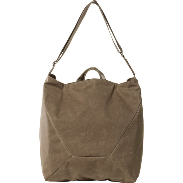 Mystery Ranch Bindle Shoulder Tote Bag (Wood Waxed) Side View