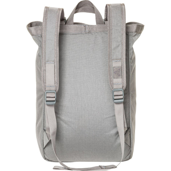 Mystery Ranch Booty Bag Tote Day Pack (Gravel) Rear View with Backpack Straps