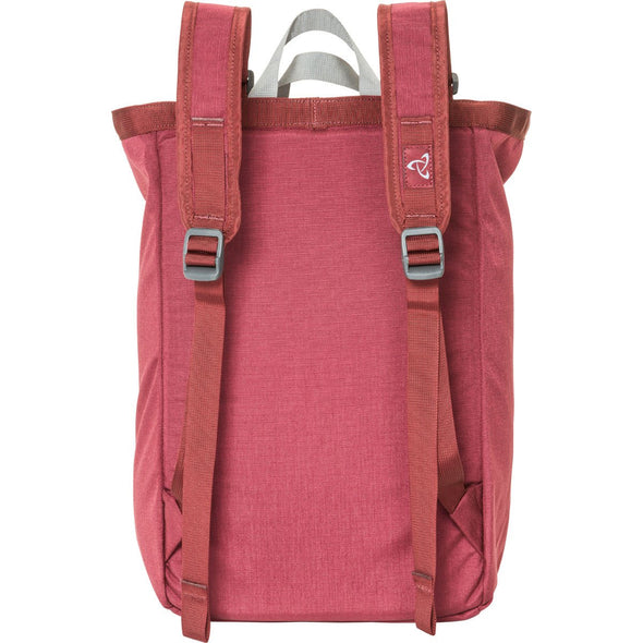 Mystery Ranch Booty Bag Tote Day Pack (Henna Red) Rear View with Backpack Straps