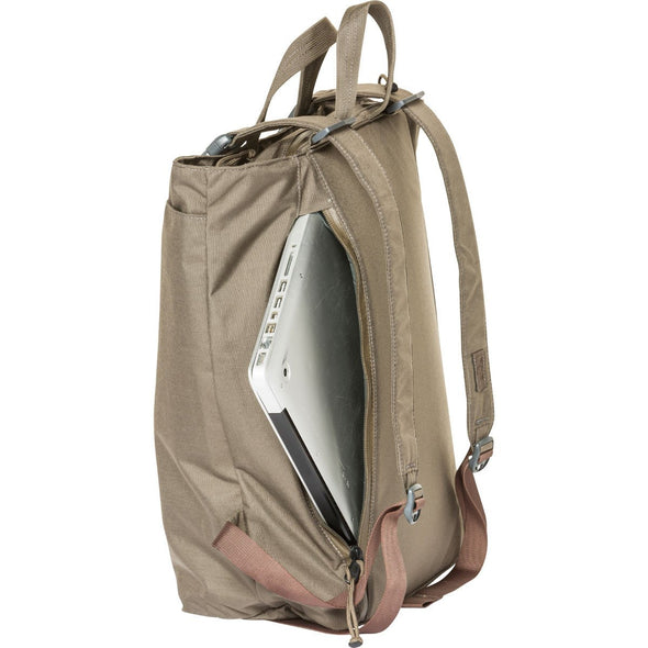 Mystery Ranch Booty Deluxe Tote Day Pack (Wood) Side View with Laptop Pocket