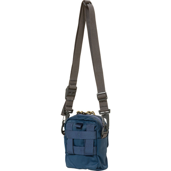 Mystery Ranch Bop Shoulder Travel Bag (Vintage Blue) Rear View
