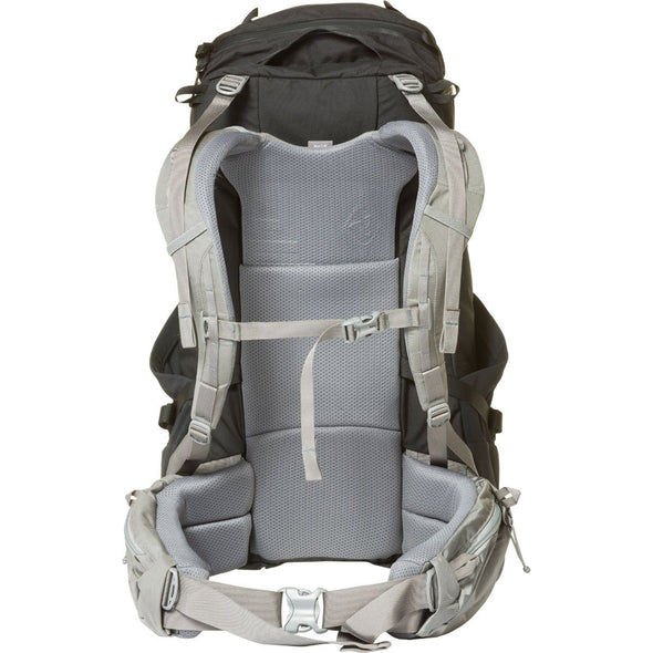 Mystery Ranch Coulee 40 Rucksack (Black) Rear View with Harness