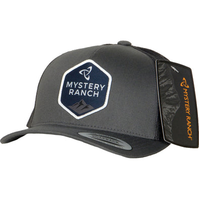 Mystery Ranch Hexagon Logo Trucker Cap (Charcoal)