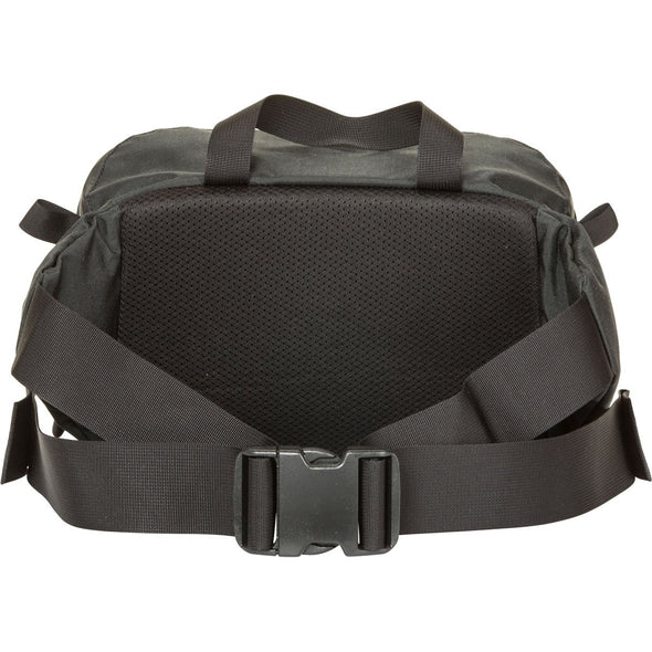 Mystery Ranch Hip Monkey Waist Pack (Black) Rear View with Belt