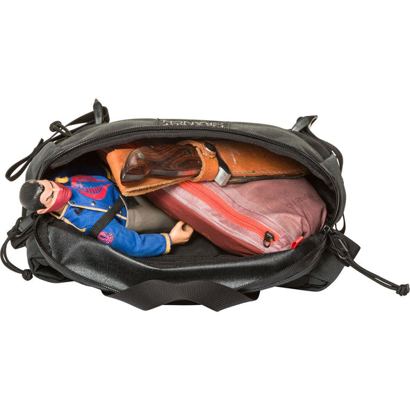 Mystery Ranch Hip Monkey Waist Pack (Black) with Open Compartment