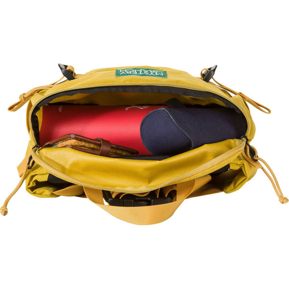 Mystery Ranch Hip Monkey Waist Pack (Lemon) Open Compartment