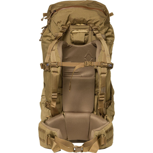 Mystery Ranch Metcalf Backpack (Coyote) Rear View with Harness