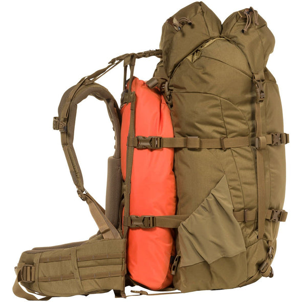 Mystery Ranch Metcalf Backpack (Coyote) showing Overload Feature