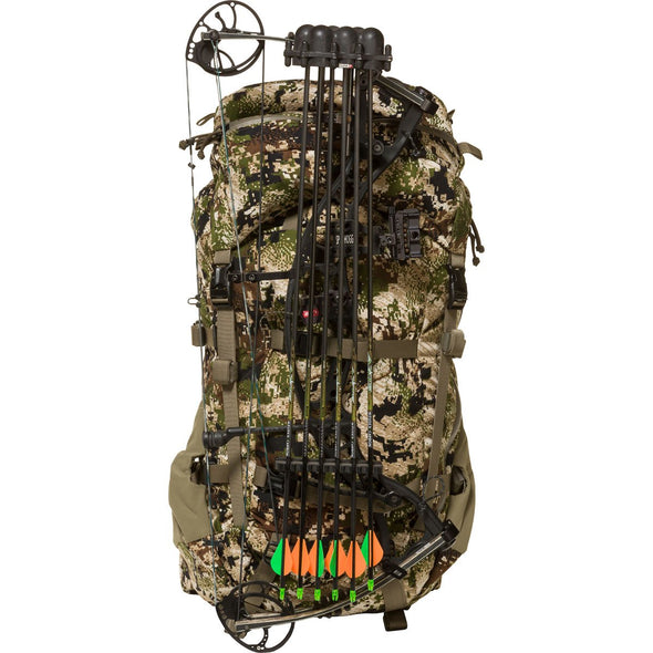 Mystery Ranch Metcalf Backpack (Optifade Subalpine DPM Camo) with Hunting Bow