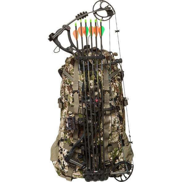 Mystery Ranch Pintler Overnight Backpack (Optifade Subalpine DPM Camo) with Hunting Bow