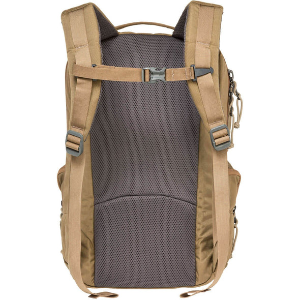 Mystery Ranch Rip Ruck Day Pack (Coyote) Rear View with Harness
