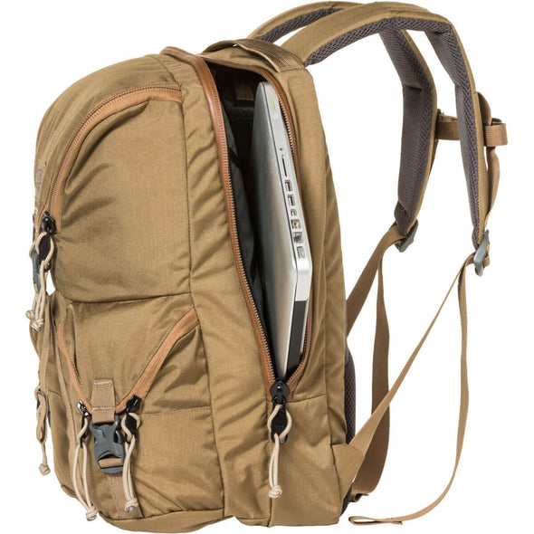 Mystery Ranch Rip Ruck Day Pack (Coyote) Side View Showing Padded Laptop Storage