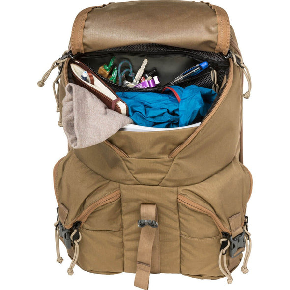 Mystery Ranch Rip Ruck Day Pack (Coyote) Open Showing Contents