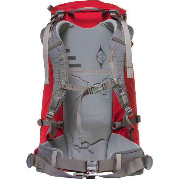 Mystery Ranch Scepter 35 Alpine Day Pack (Cherry) Rear View of Harness