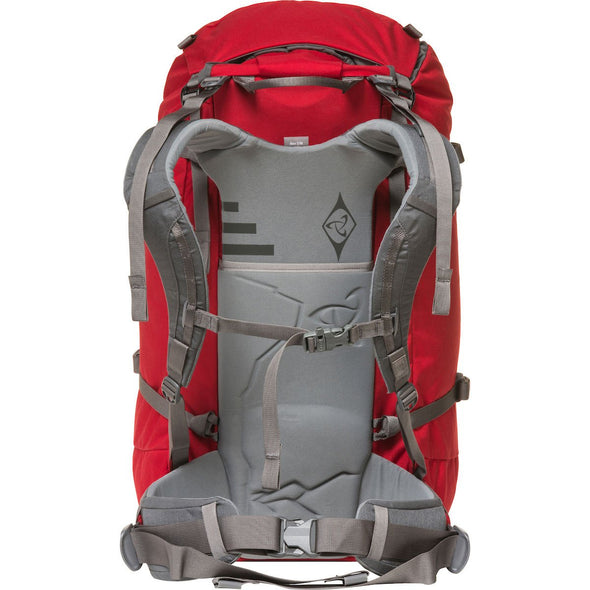 Mystery Ranch Scepter 50 Alpine Backpack (Cherry) Rear View of Harness