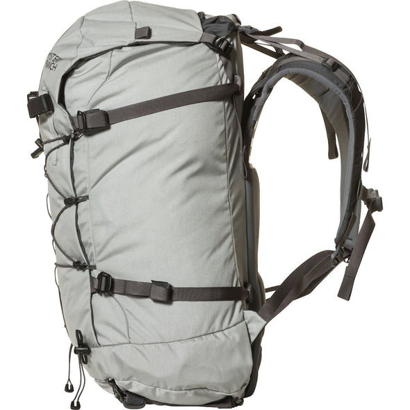 Mystery Ranch Scepter 50 Alpine Backpack (Mist) Side View with Waist Belt Removed