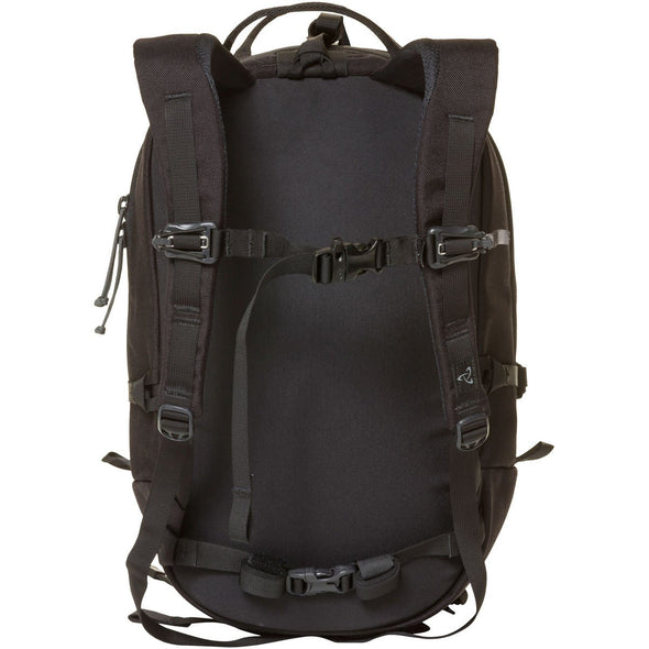 Mystery Ranch Skyline 17 Rock Climbing Day Pack (Black) Rear View of Harness