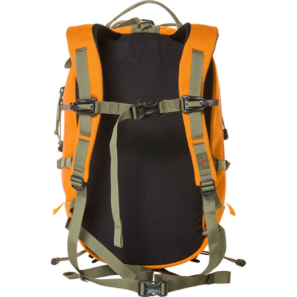 Mystery Ranch Skyline 17 Rock Climbing Day Pack (Tiger Orange) Rear View of Harness