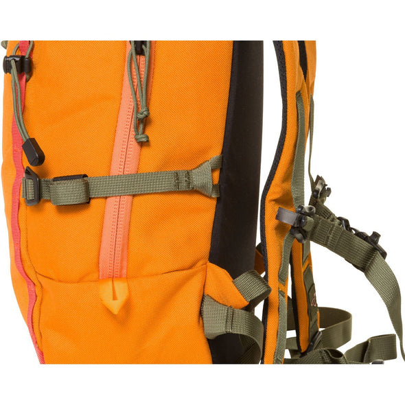 Mystery Ranch Skyline 17 Rock Climbing Day Pack (Black) Close of Removable Compression Strap
