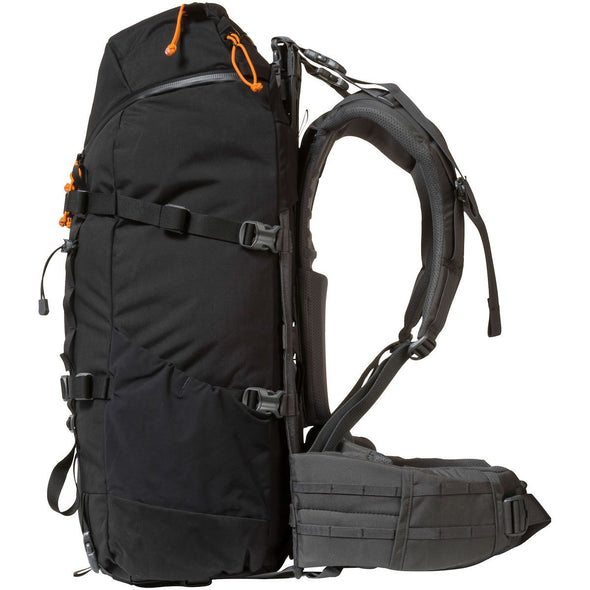 Mystery Ranch Terraframe 3-zip 50 Framed Mountaineering Backpack (Black) Side View