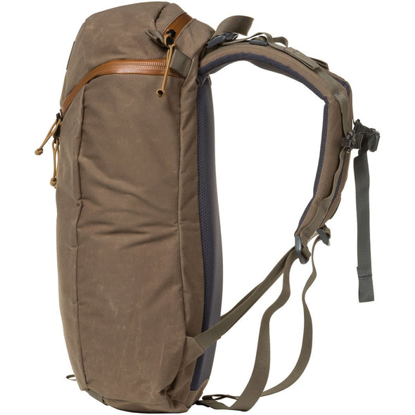 Mystery Ranch Urban Assault 21 Multi-Purpose Day Pack (Wood Waxed) Side View