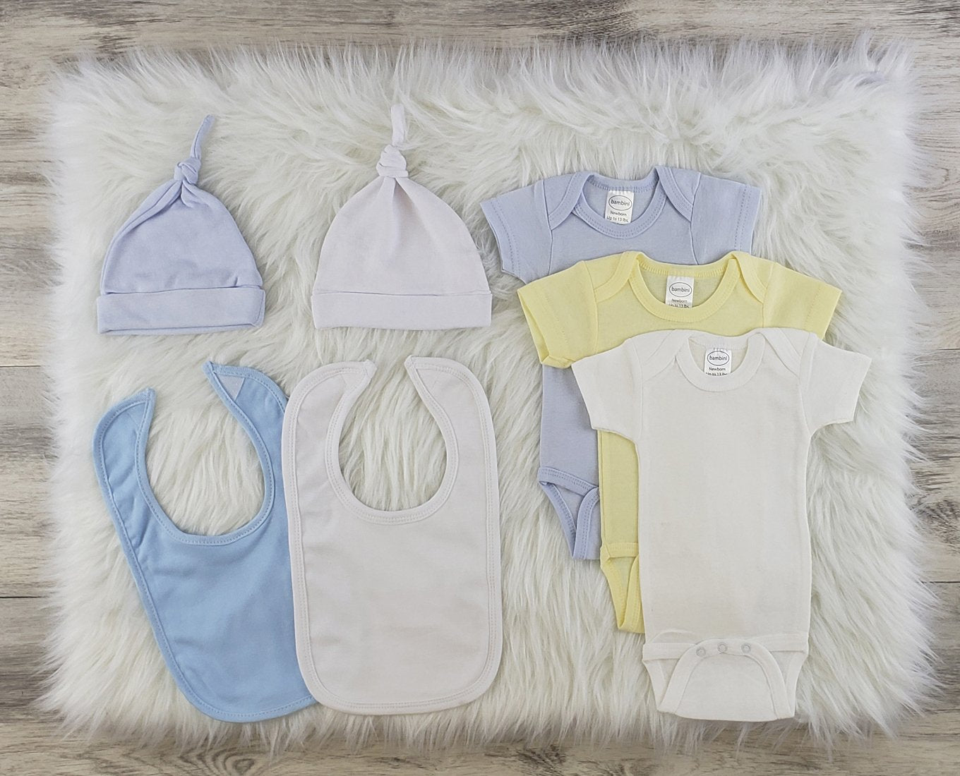 Bambini 7 Pc Layette Baby Clothes Set - Baby World Inc