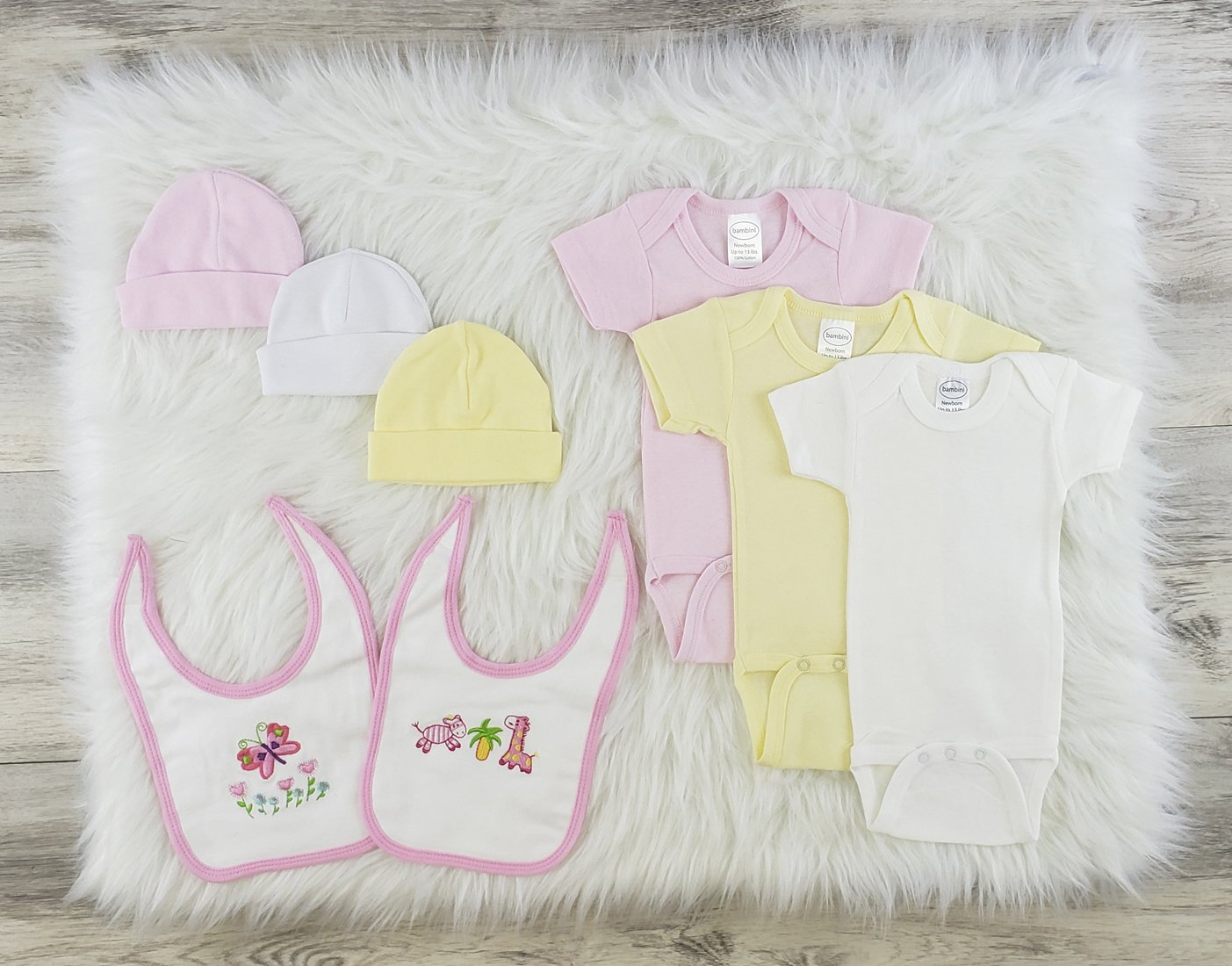 Bambini 9 Pc Layette Baby Clothes Set - Baby World Inc