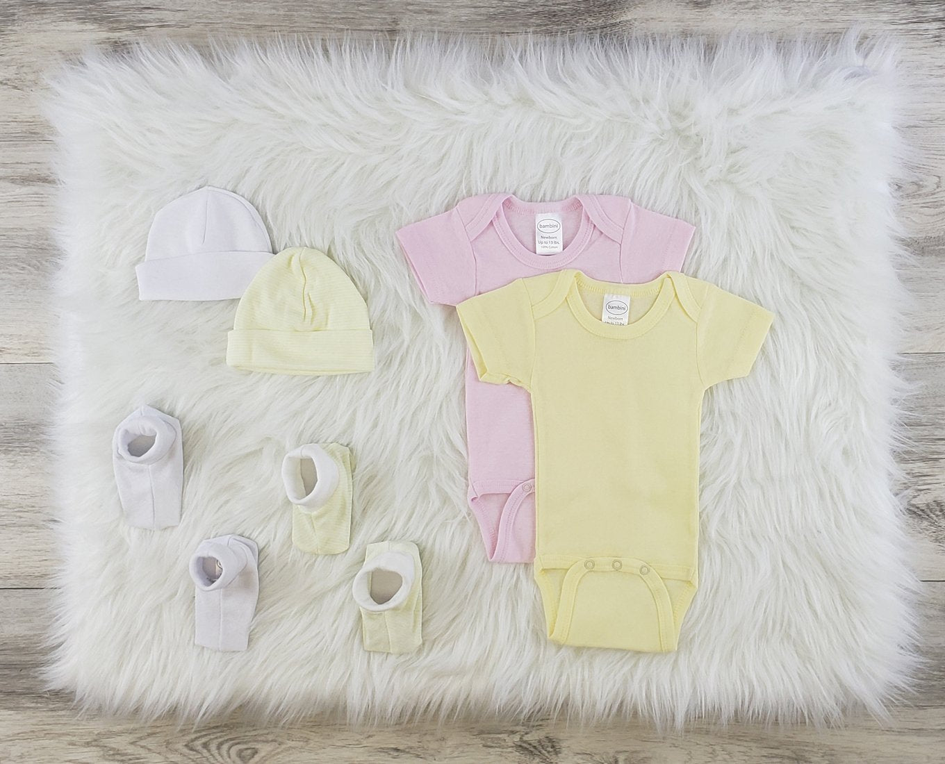 Bambini 6 Pc Layette Baby Clothes Set - Baby World Inc