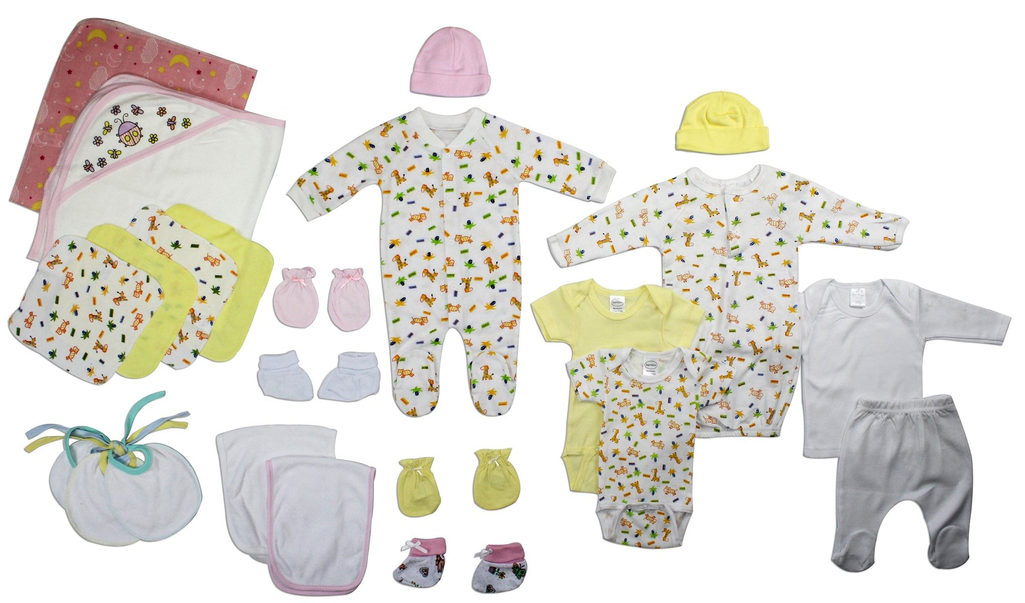 Bambini Newborn Baby Girl 23 Pcs Layette Baby Shower Gift Set - Baby World Inc