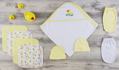Bambini Hooded Towel, Bath Mittens and Caps - Baby World Inc