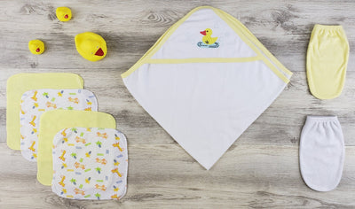 Bambini Hooded Towel, Wash Clothes, Bath Mittens and Robe - Baby World Inc