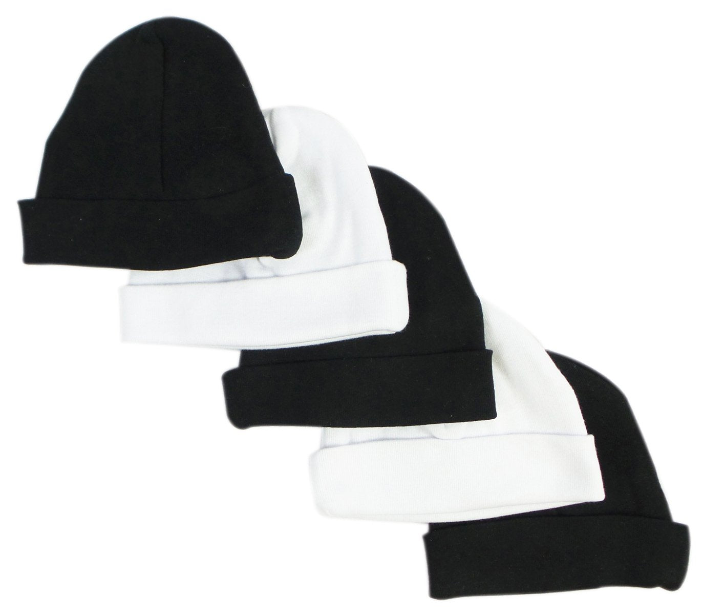 Bambini Black & White Baby Caps (Pack of 5) - Baby World Inc