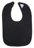 Black Interlock Bib - Baby World Inc