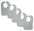 Bambini Grey Baby Bibs (Pack of 5) - Baby World Inc