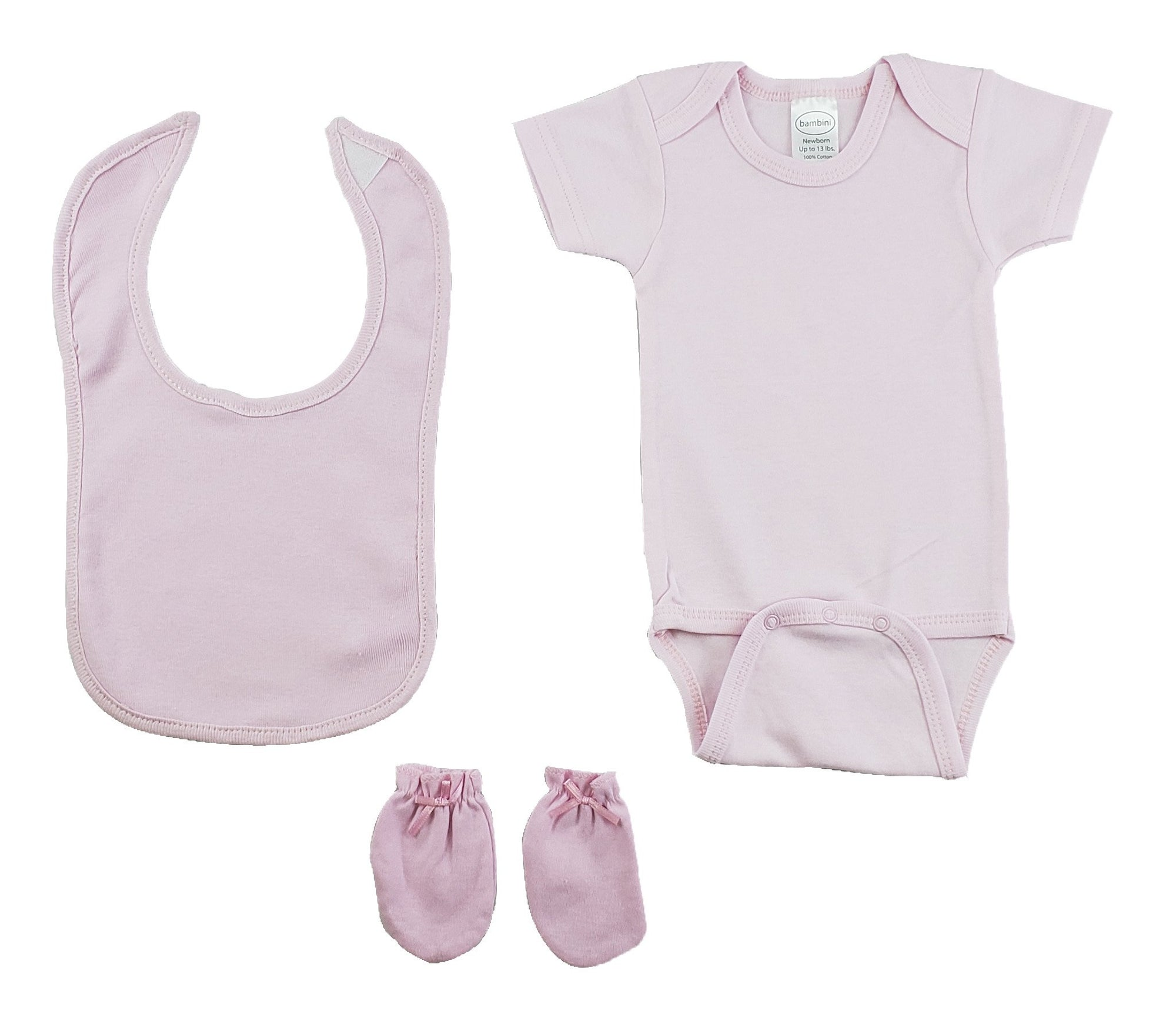 Pink 3 Piece Baby Clothes Set - Baby World Inc