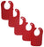 Bambini Red Baby Bibs (Pack of 5) - Baby World Inc