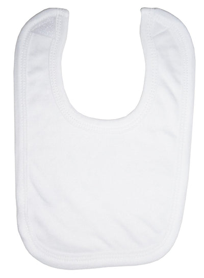 White Interlock Bib - Baby World Inc
