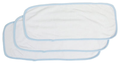 Bambini Baby Burpcloth With Blue Trim (Pack of 3) - Baby World Inc