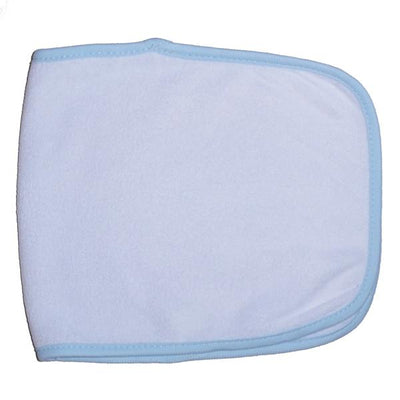 Terry Burpcloth with Blue Trim - Baby World Inc