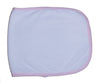 Terry Burpcloth with Pink Trim - Baby World Inc