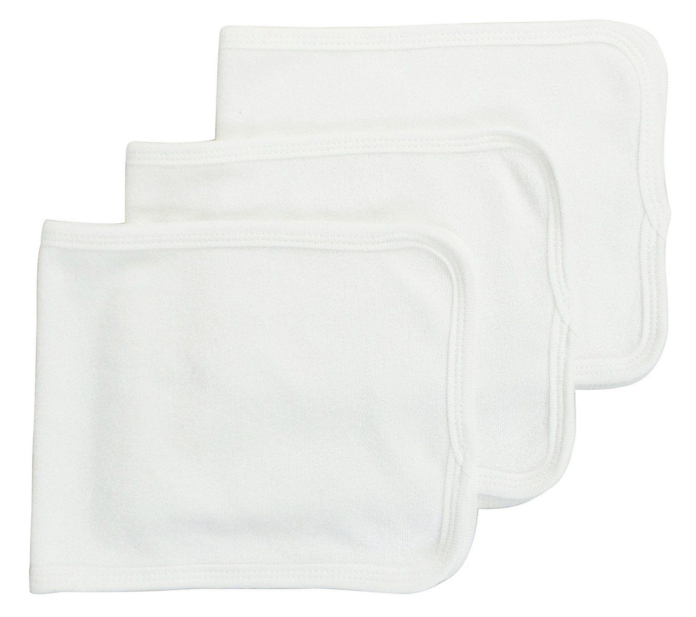 Bambini Baby Burpcloth With White Trim (Pack of 3) - Baby World Inc