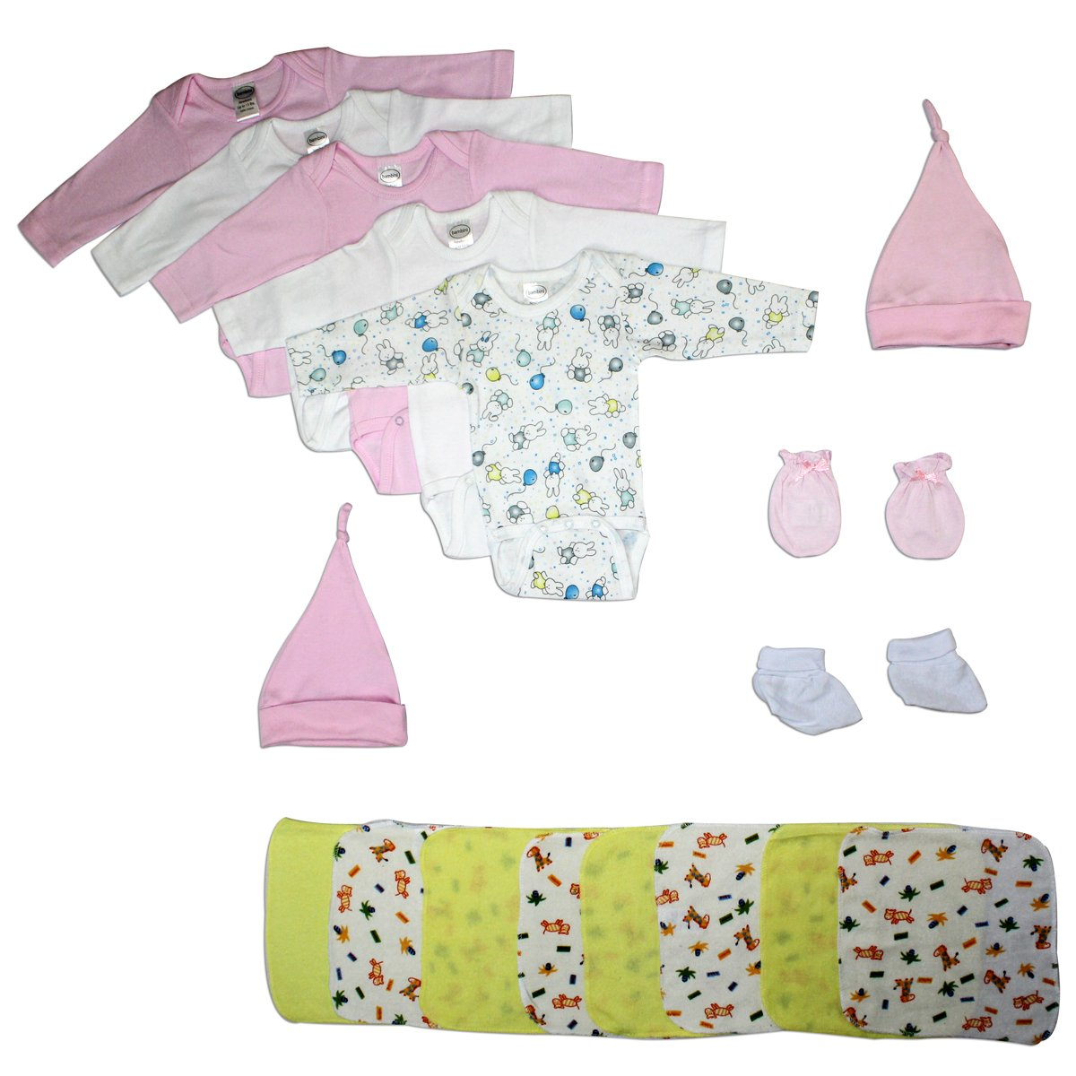 Bambini Newborn Baby Girl 17 pcs Layette Baby Shower Gift Set - Baby World Inc