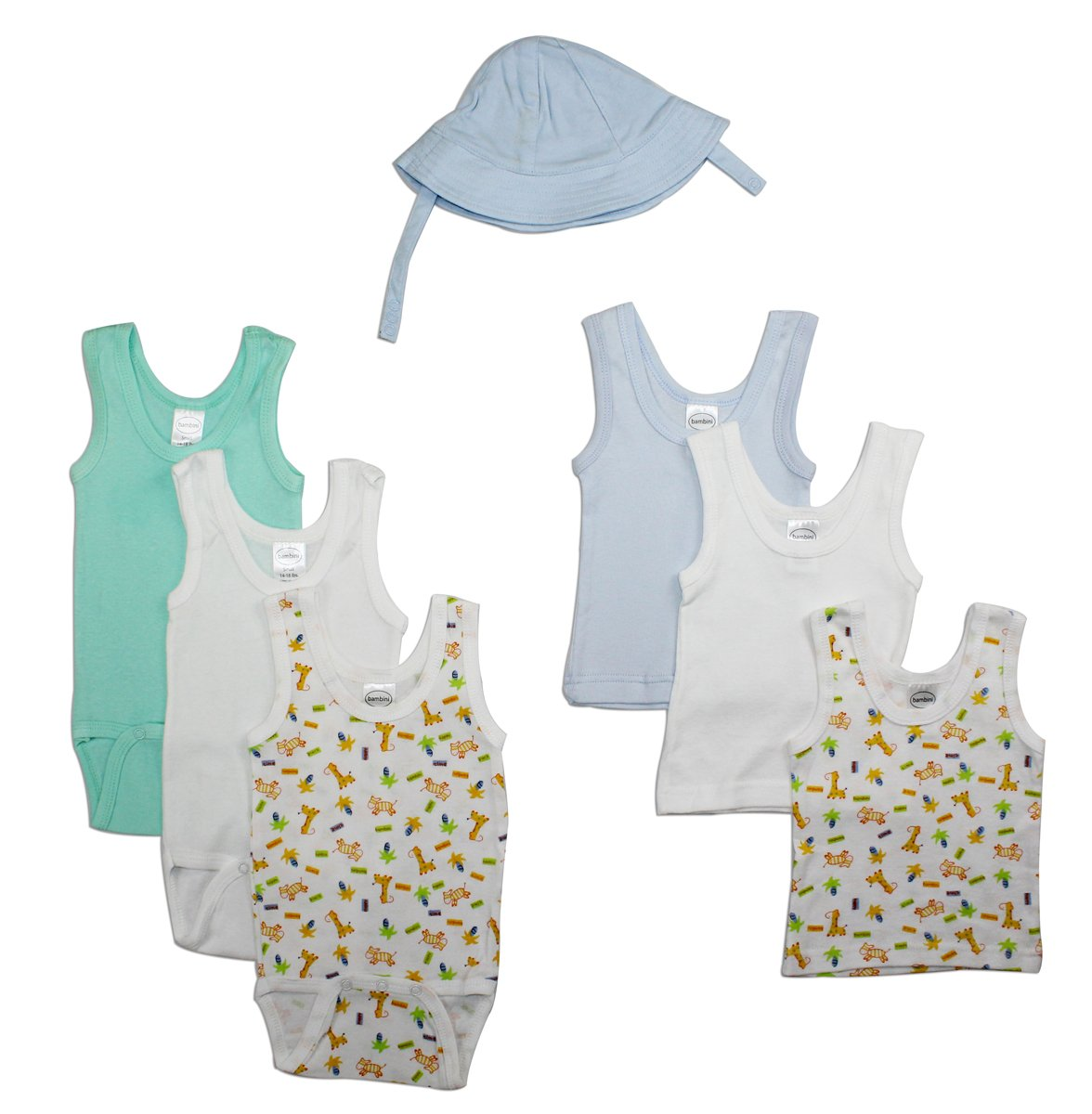 Bambini Boys' Summer 7 Piece Layette Set - Baby World Inc