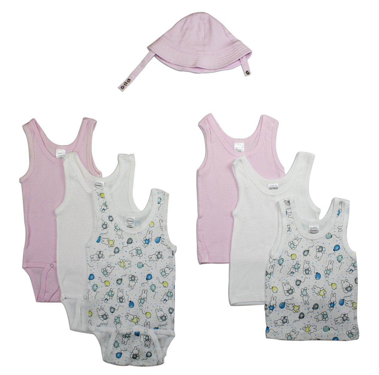 Bambini Girls' Summer 7 Piece Layette Set - Baby World Inc
