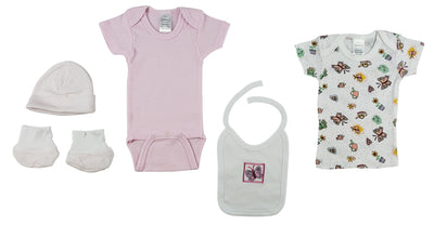 7-Piece Pastel Interlock Hanging Gift Set - Baby World Inc