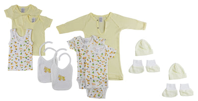 12-Piece Pastel Interlock Hanging Gift Set - Baby World Inc
