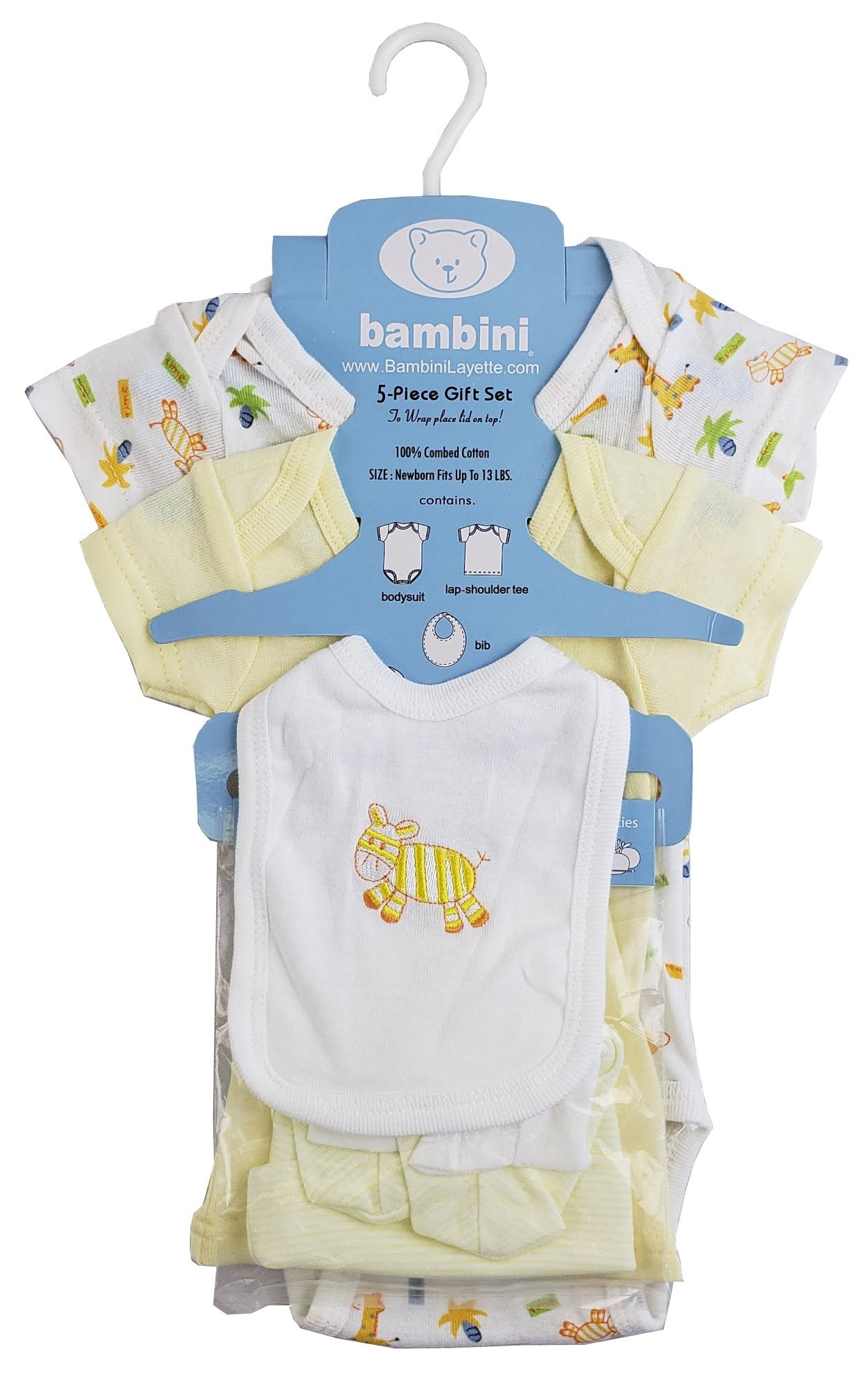 5-Piece Pastel Interlock Hanging Gift Set - Baby World Inc